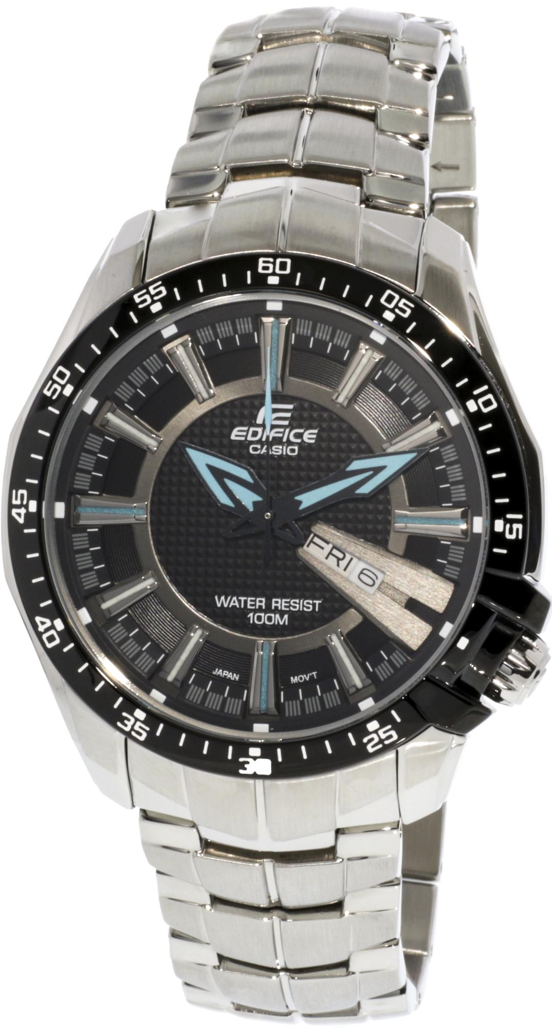 Casio Men's Edifice EF130D-1A2V Black Stainless-Steel Quartz Fashion Watch