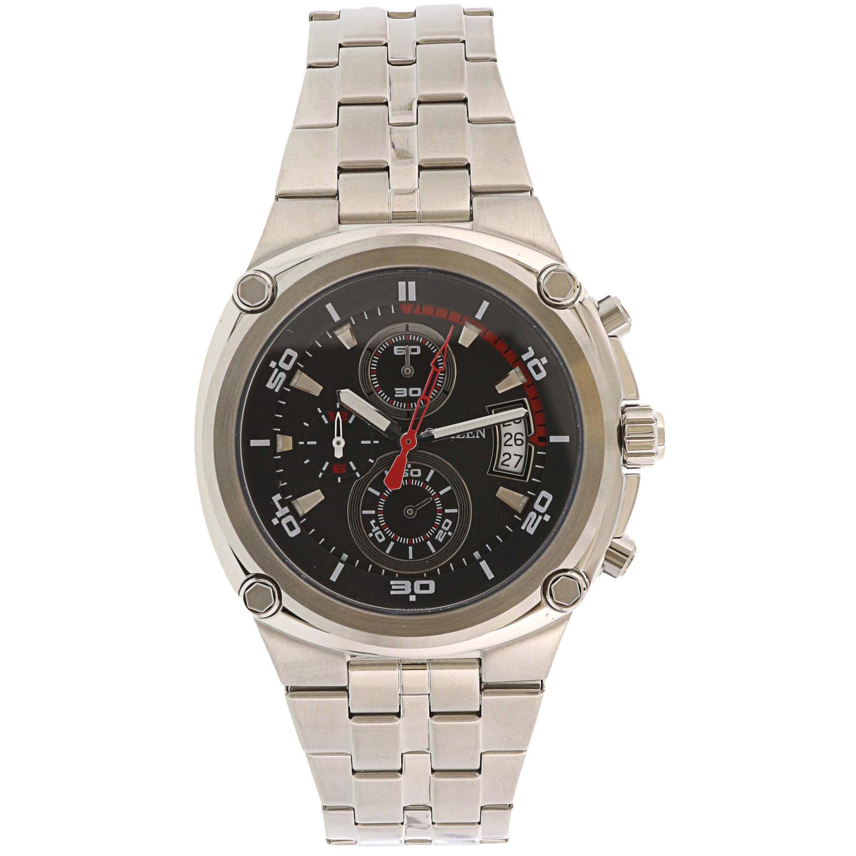 Citizen Men's Quartz Chronograph AN3450-50E Silver Stainless-Steel Japanese Fashion Watch