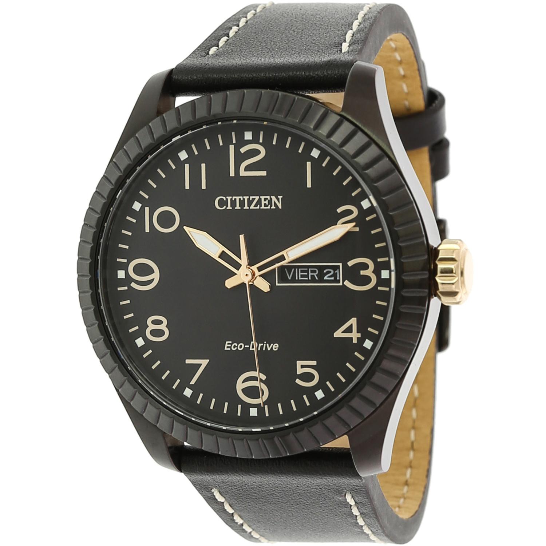 Citizen_Men's_Eco-Drive_BM8538-10E_Black_Leather_Fashion_Watch