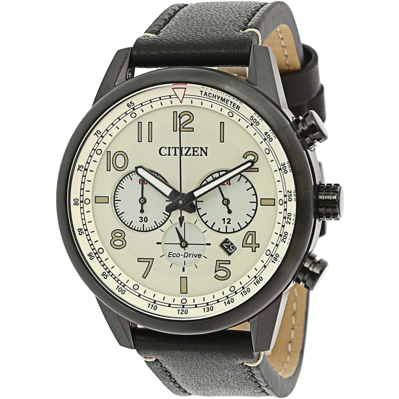 Citizen_Men's_Eco-Drive_CA4425-10X_Black_Leather_Fashion_Watch