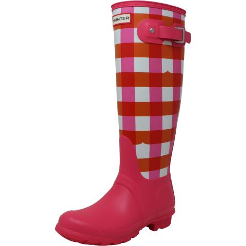 Hunter Women's Original Tall Gingham Mid-Calf Rain Boot
