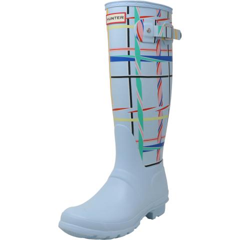 Hunter Women's Original Tall Rock Tartan Knee-High Rubber Rain Boot