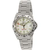 Invicta Men's G.M.T. 9402 Silver Stainless-Steel Swiss Quartz Watch