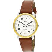 Timex Men's Easy Reader T20011 White Leather Quartz Watch