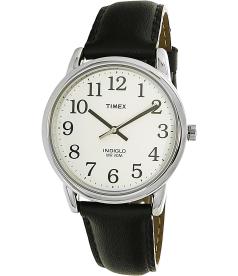 Timex Men's Easy Reader T20501 White Leather Quartz Watch