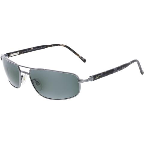 Maui Jim Men's Kahuna 162-02 Silver Aviator Sunglasses