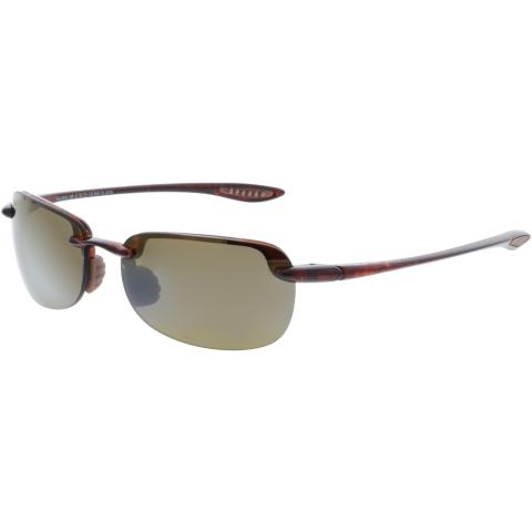 Maui Jim Men's Polarized Sandy Beach H408-10 Brown Semi-Rimless Sunglasses