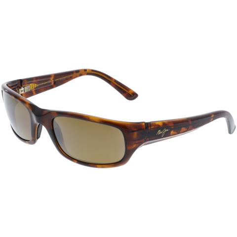 Maui Jim Men's Polarized Stingray H103-10 Brown Wrap Sunglasses