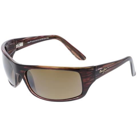 Maui Jim Men's Polarized Peahi H202-10 Brown Rectangle Sunglasses