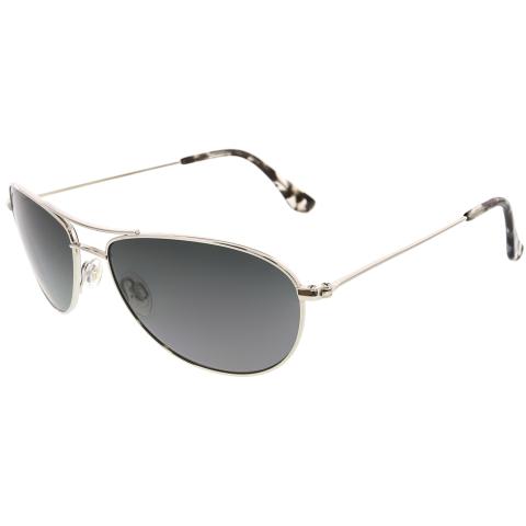 Maui Jim Women's Gradient Baby Beach GS245-17 Black Oval Sunglasses