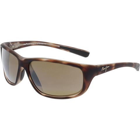Maui Jim Men's Polarized Spartan Reef H278-10MR Brown Rectangle Sunglasses