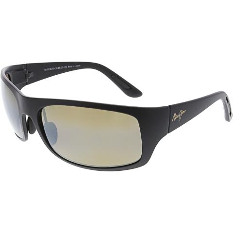 Maui Jim Haleakala H419-2M Matte Black Rectangle Sunglasses