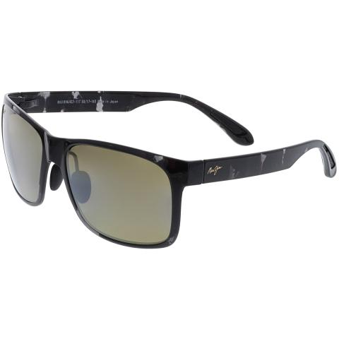 Maui Jim Polarized Red Sands H432-11T Black Rectangle Sunglasses