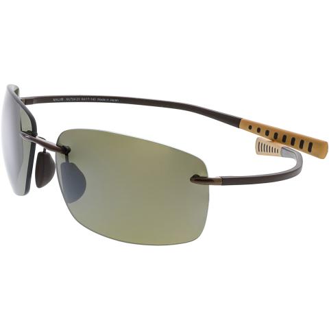 Maui Jim Men's Polarized Kumu H724-23 Brown Rimless Sunglasses