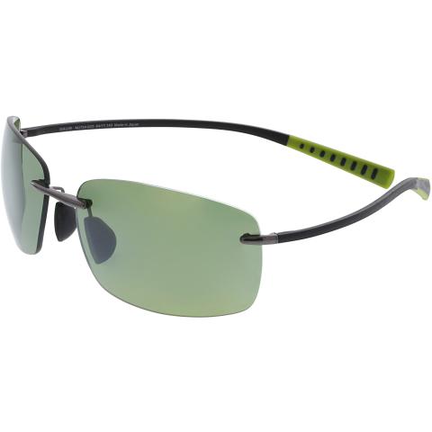 Maui Jim Men's Polarized Kumu HT724-02D Grey Rimless Sunglasses
