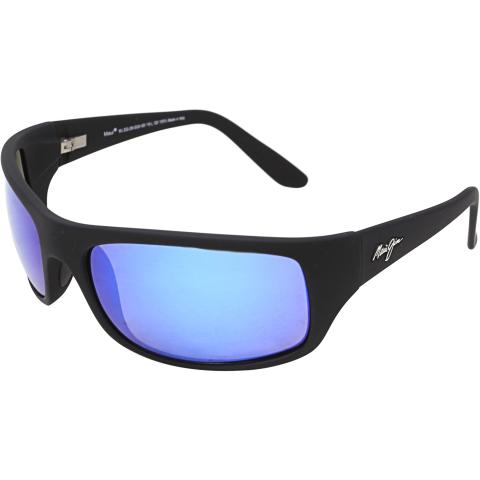Maui Jim Men's Peahi B202-2M Black Rectangle Sunglasses