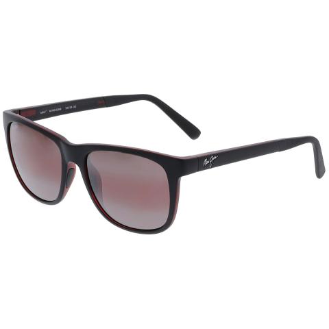 Maui Jim Men's Polarized Tail Slide R740-02MB Black Square Sunglasses