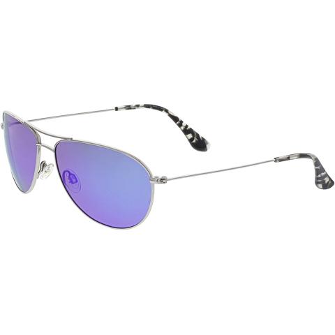 Maui Jim Women's Polarized Sea House B772-17 Silver Aviator Sunglasses