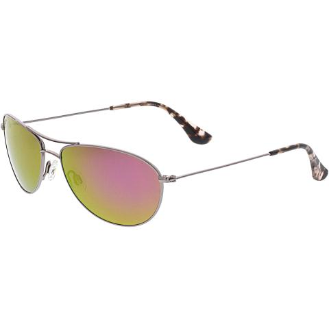 Maui Jim Women's Polarized Baby Beach P245-16R Rose-Gold Aviator Sunglasses