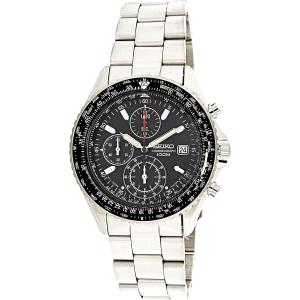 Seiko Men's Tachymeter SND253 Silver Stainless-Steel Quartz Watch