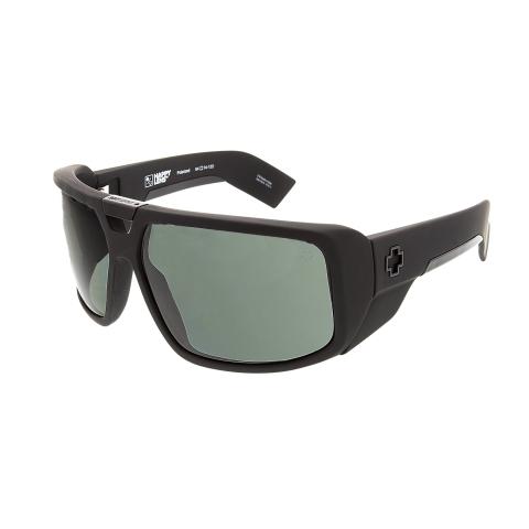 Spy Discord Happy Lens Polarized Wrap Sunglasses Matte Black/Grey Green