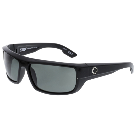 Spy Men's Polarized Bounty 673017242864 Black Rectangle Sunglasses