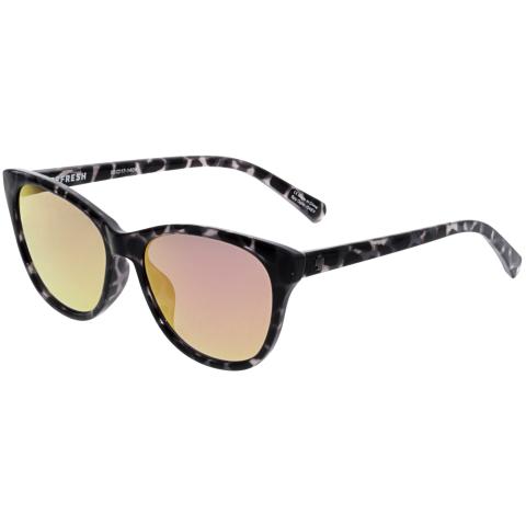 Spy Women's Mirrored Spritzer 673515332810 Black Cat Eye Sunglasses