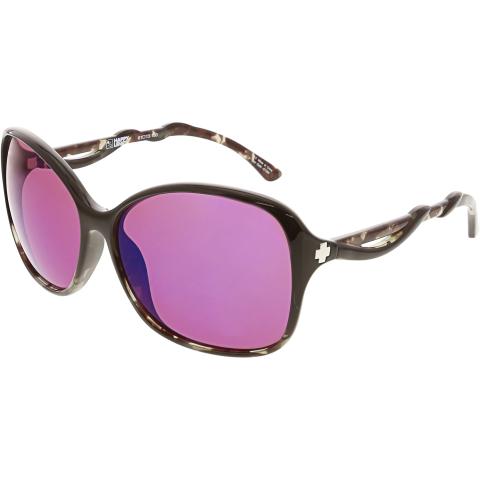 Spy Women's Mirrored Fiona 670299224796 Black Butterfly Sunglasses