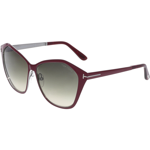Tom Ford Women's Gradient Lena FT0391-69Z-58 Pink Butterfly Sunglasses