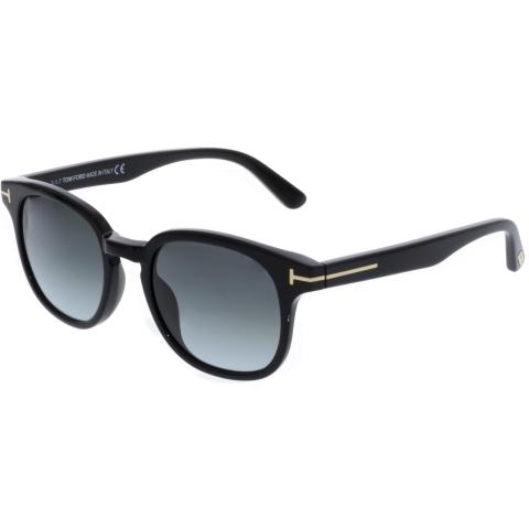 Tom Ford Frank FT0399-01N-50 Black Rectangle Sunglasses