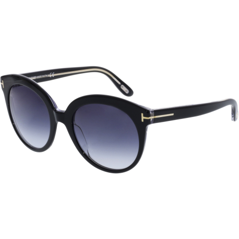 Tom Ford Women's Monica FT0429-03W-54 Black Round Sunglasses