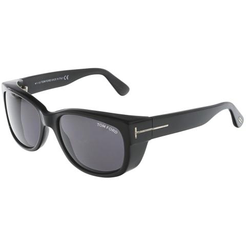 Tom Ford Carson FT0441-01A-56 Black Rectangle Sunglasses