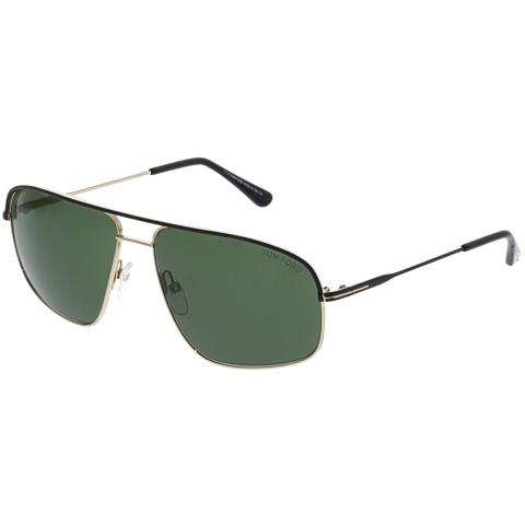 Tom Ford Men's Mirrored Justin FT0467-02N-60 Matte Black Geometric Sunglasses