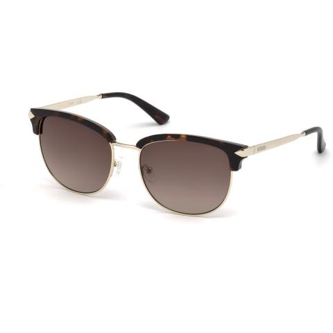 Guess Women's Mirrored Gu7482 GU7482-52F-55 Black Round Sunglasses