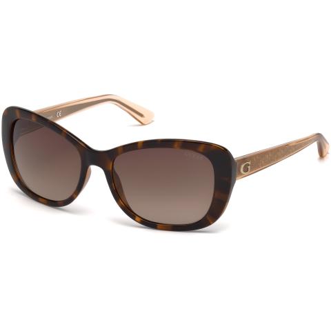 Guess Women's Gradient Gu7475 GU7475-52F-56 Brown Rectangle Sunglasses