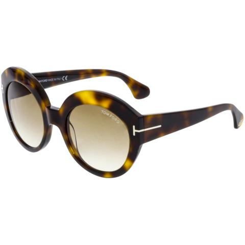 Tom Ford Women's Gradient Rachel FT0533-53F-54 Brown Round Sunglasses