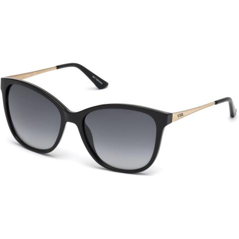 Guess Women's Gradient Gu7502 GU7502-01A-57 Black Rectangle Sunglasses