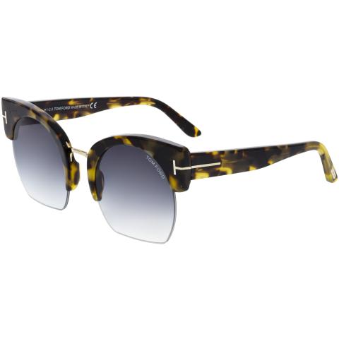 Tom Ford Women's Gradient Savannah FT0552-56B-55 Brown Cat Eye Sunglasses