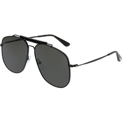 Tom Ford Men's Connor FT0557-01A-58 Black Aviator Sunglasses