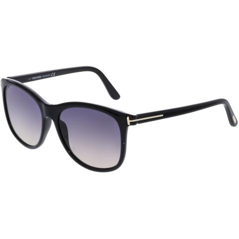 Tom Ford Women's Fiona-02 FT0567-01B-56 Black Square Sunglasses