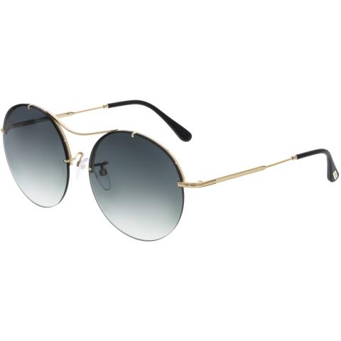 Tom Ford Women's Gradient FT0565-28B-58 Gold Round Sunglasses
