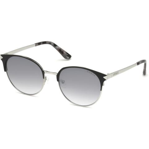Guess Women's Mirrored Gu7516 GU7516-02C-53 Black Round Sunglasses