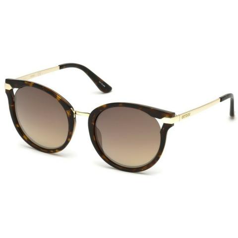 Guess Women's Mirrored Gu7529 GU7529-52G-54 Brown Round Sunglasses