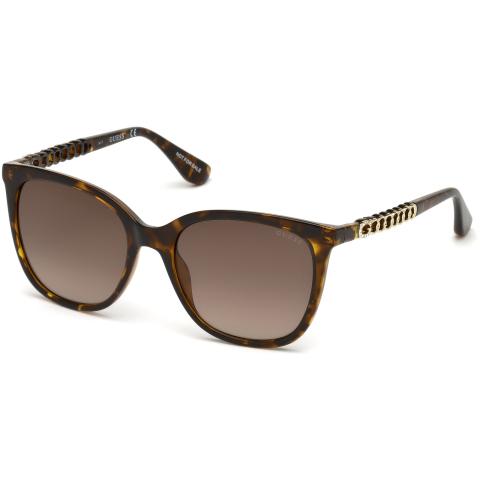 Guess Women's Gradient Gu7545 GU7545-S-52F-54 Brown Rectangle Sunglasses
