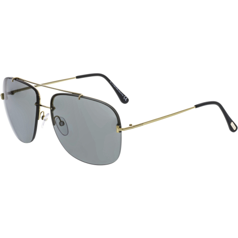 Tom Ford Shelby-02 FT0620-28A-62 Silver Rectangle Sunglasses