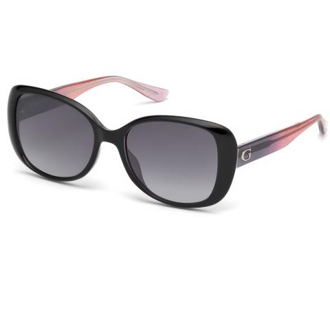 Guess Women's Gradient Gu7554 GU7554-05B-54 Black Rectangle Sunglasses