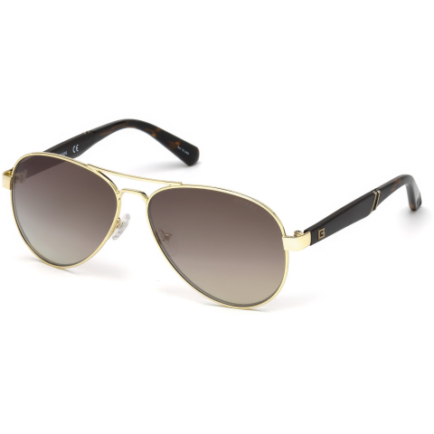 Guess Men's Mirrored Gu6930 GU6930-32G-60 Gold Round Sunglasses