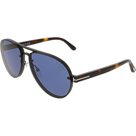 Tom Ford Men's Mirrored Alexei-02 FT0622-12V-62 Blue Aviator Sunglasses