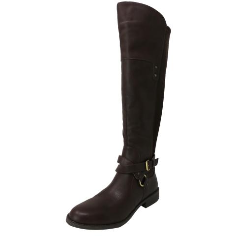 Mootsies Tootsies Women's Kayo Distressed Fabric Knee-High Boot