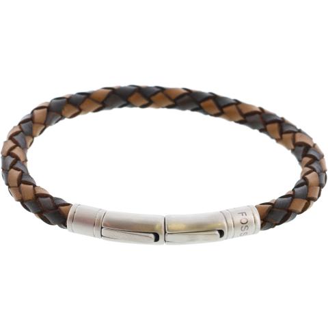 Fossil Men's Braided Bracelet Link
